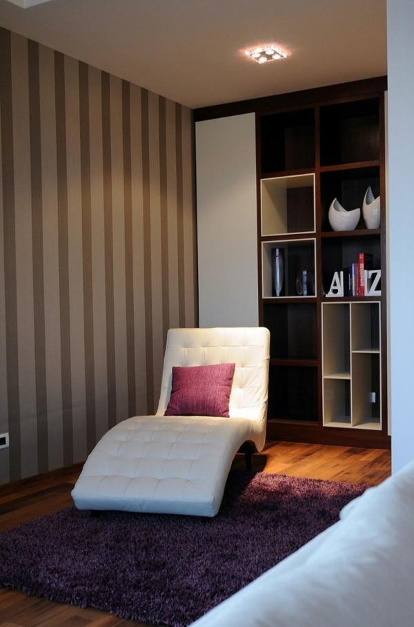 exklusive penthousewohnung ergonomische liege in weißleder