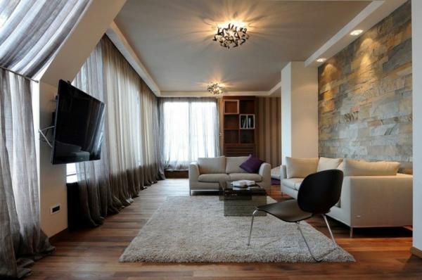 exklusive penthousewohnung hochfloriger teppich in weiß