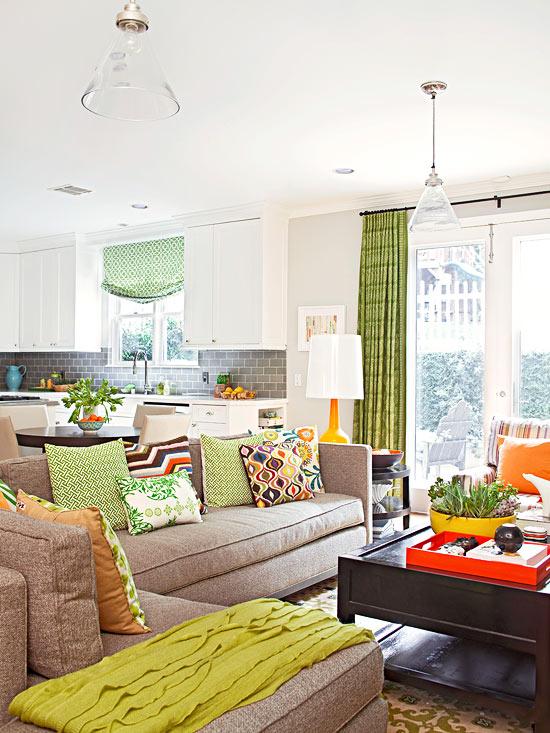 familienfreundliche wohnzimmer eklektisch und farbenfroh