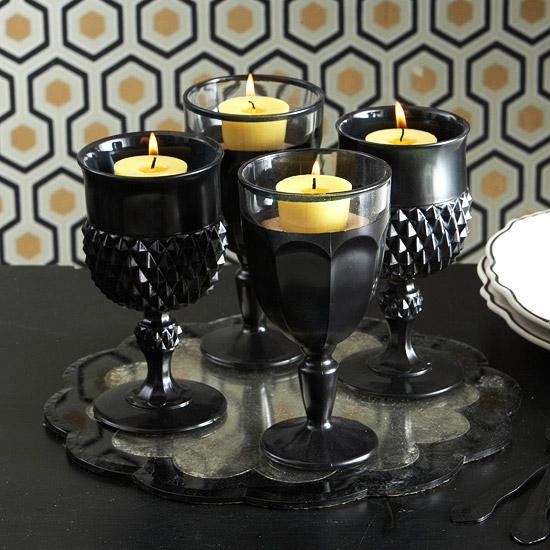 wie kann man festliche tischdeko zu halloween selber machen. Black Bedroom Furniture Sets. Home Design Ideas