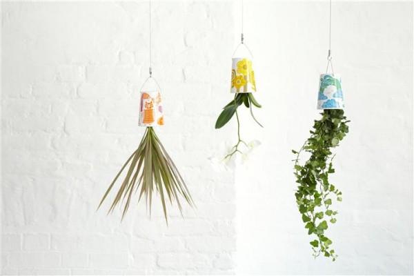 hängende blumentöpfe zimmerpflanzen luftige retro boskke