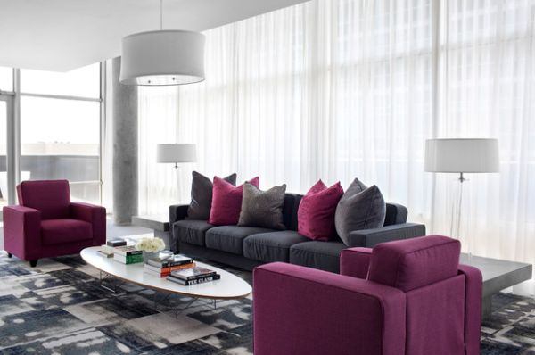 awesome wohnzimmer grau magenta pictures - barsetka.info ... - Wohnzimmer Grau Magenta