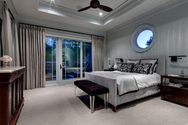 herbstfarben trends grau luxus im schlafzimmer