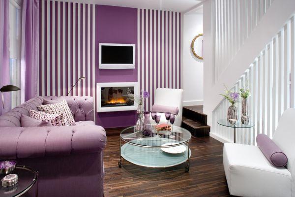 herbstfarben trends lavendel und weiß in streifen