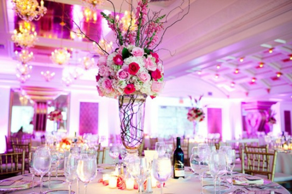 Schöne Dekoideen für extravagante Hochzeitsdekoration