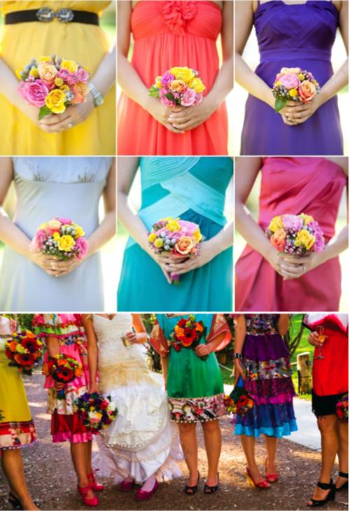 hochzeit planen bunte kleider und muster