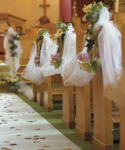 hochzeitsdekoration ideen in der kirche