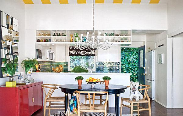 humorvolles innendesign küchenrückwand mit fototapete