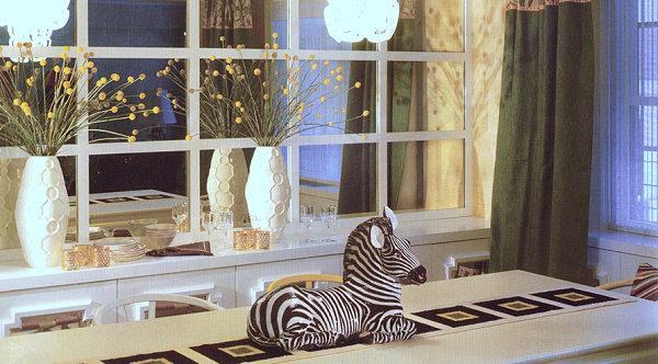 humorvolles innendesign zebra statuette