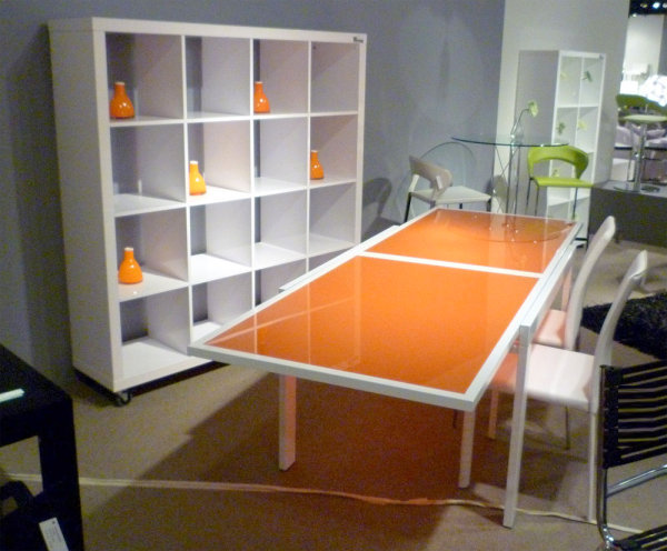 innendesign ideen orange farbe sofa essbereich tisch deko