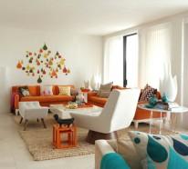 Innendesign Ideen und Farbakzente in Orange – bemerkenswerte Möbel