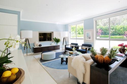 Inneneinrichtung Ideen   Graphische Muster im Wohn  und Essbereich