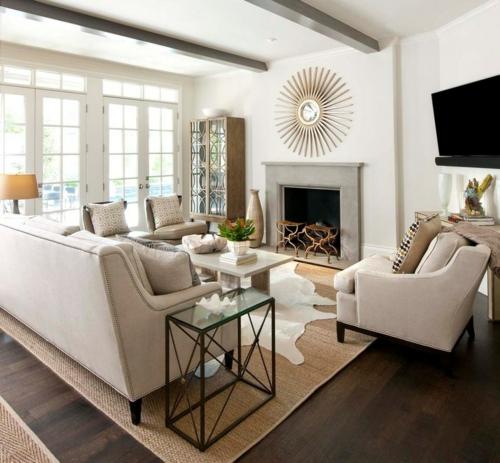 41 Interessante Inneneinrichtung Ideen Setzen Sie Kontrasteffekte Ein Wohnzimmer Hell