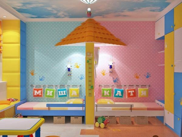 kinderzimmer komplett gestalten - junge und mädchen teilen ein zimmer, Wohnideen design