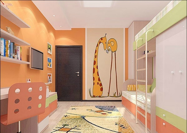 Kinderzimmer wandgestaltung giraffe  Kinderzimmer Wandgestaltung Giraffe | afdecker.com