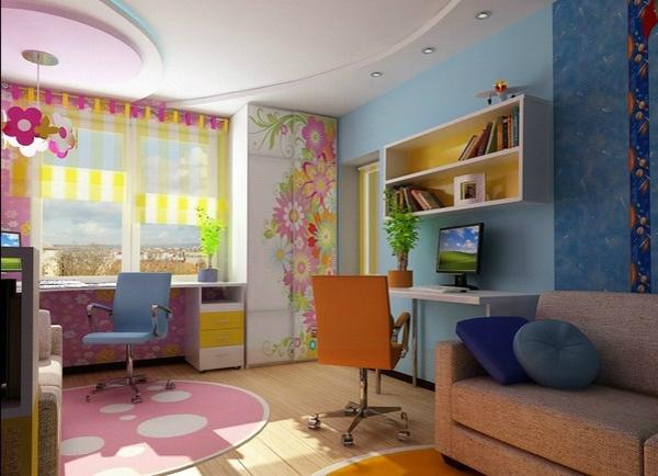 kinderzimmer komplett gestalten - junge und mädchen teilen ein zimmer, Wohnzimmer dekoo