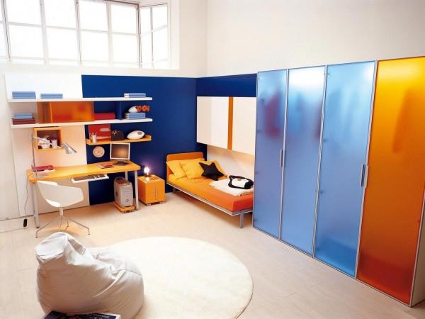 umwandelbare platzsparende möbel fürs kinderzimmer - Kinderzimmer Orange Blau