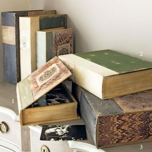 leseecke einrichten aufbewahrungsboxen in form von büchern