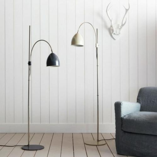 leseecke einrichten elegante bogenlampen