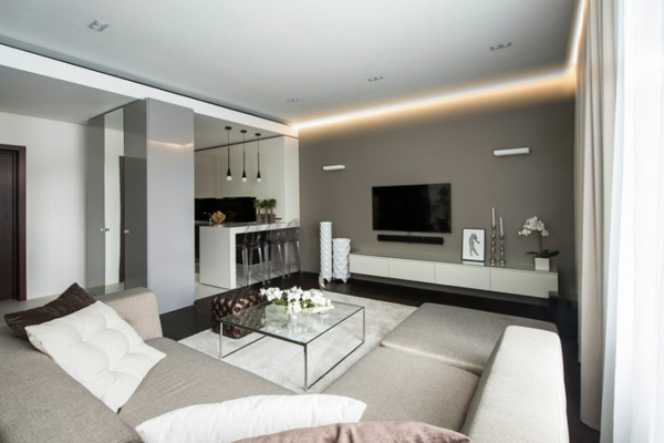 Wohnzimmer Beleuchtung Modern Wohnzimmerbeleuchtung Beispiele Und