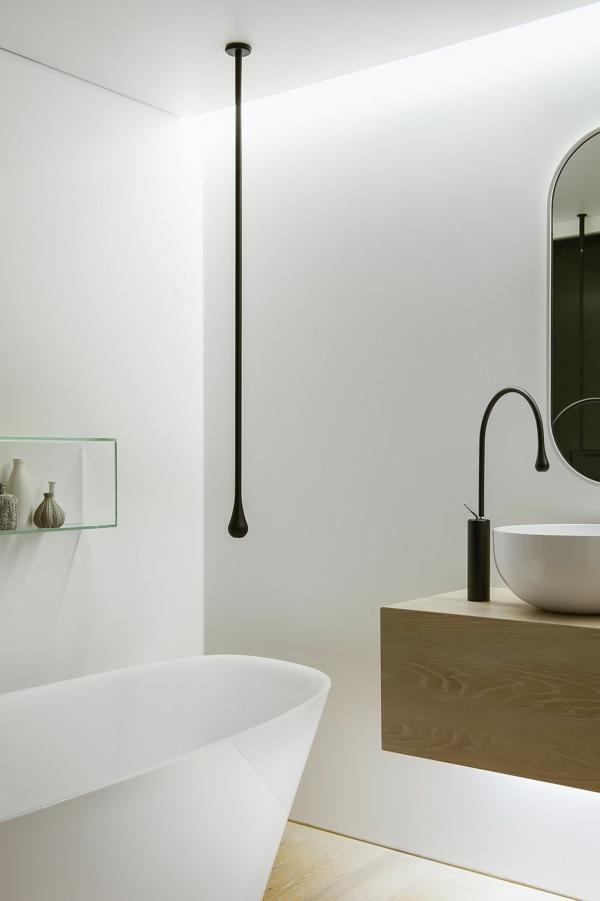 luxus badezimmer abgehängte zimmerdecke mit versteckter beleuchtung