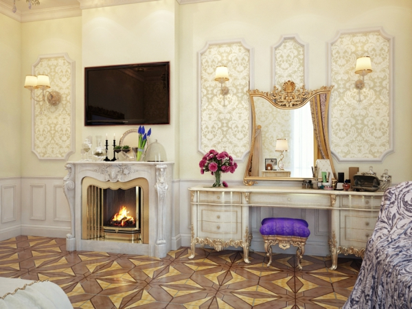 luxus einrichtungsideen blattgold ornamenten