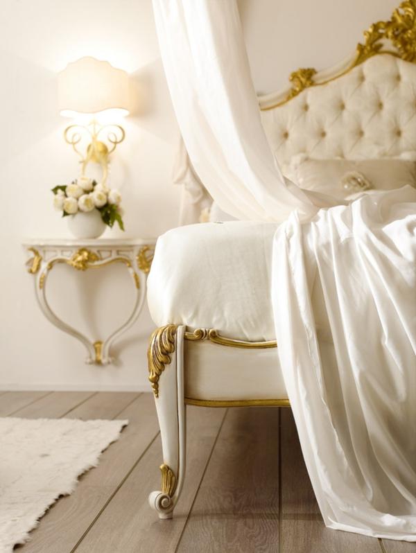 luxus einrichtungsideen goldene ornamente barockmöbel