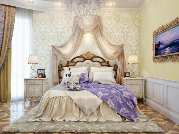 Luxus himmelbett  Luxus Einrichtungsideen - möchten Sie wie in einem Schloss leben?