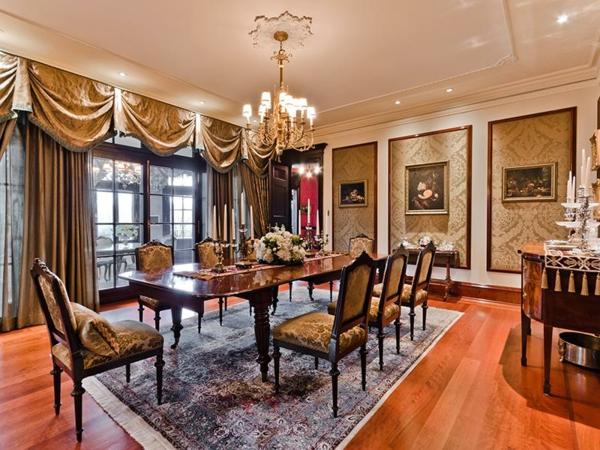 luxus schicke einrichtungsideen perserteppich und klavier