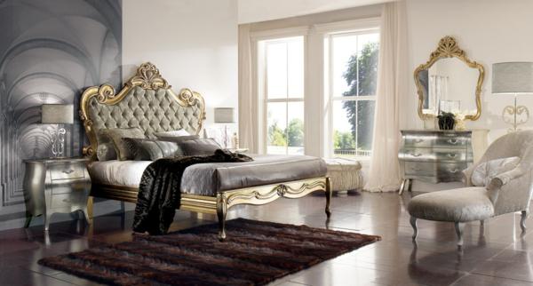 luxus einrichtungsideen silberglänzende kommode