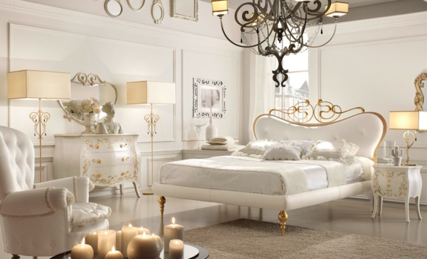 luxus einrichtungsideen strahlend weiß mit goldenen akzenten
