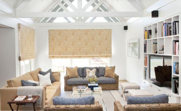 Maritim Einrichten - 30 Frische Ideen Für Ihr Interieur Im Strand-look Wohnzimmer Maritim Einrichten