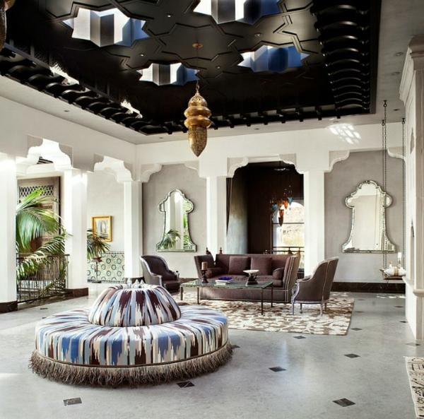 marokkanisches haus abgehängte decke mit sternen öffnungen