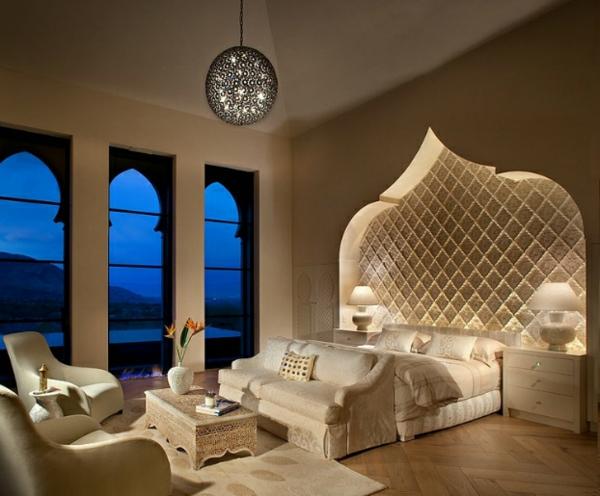 marokkanisches haus eingebautes gewölbe über dem bett
