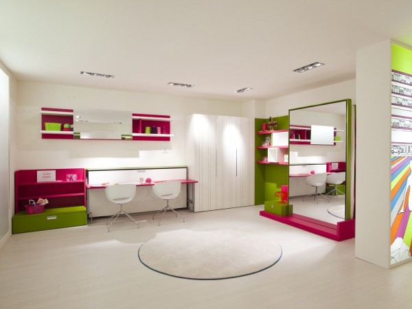 Fußboden Im Kinderzimmer ~ Umwandelbare platzsparende möbel fürs kinderzimmer