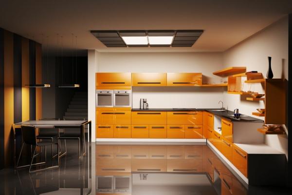 Moderne Farben in der modernen Küche - Gelb, blau, beige