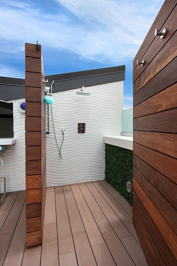 moderne luxusvilla baden im freien