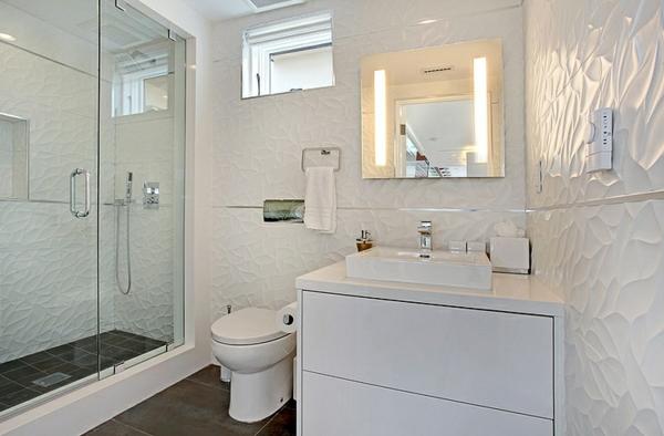 moderne coole luxusvilla duschkabine mit glastüren