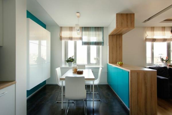 modernes apartment elegante weiße stühle