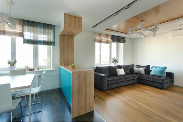 Modernes apartment mit minimalistischem innendesign in moskau for Wohnung dizayn