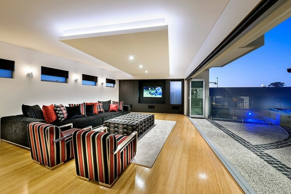 Modernes architektenhaus in der australischen metropole perth for Moderne beleuchtung im wohnzimmer