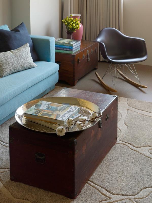 modernes wohnen hochfloriger teppich in beige