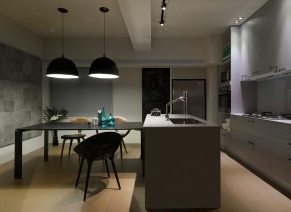 Modernes Wohnen Minimalistische Kücheninsel In Grau Mit Spüle