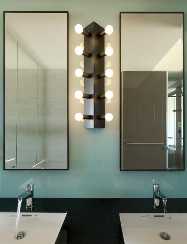 modernes wohnen zweier wandspiegel und waschbecken