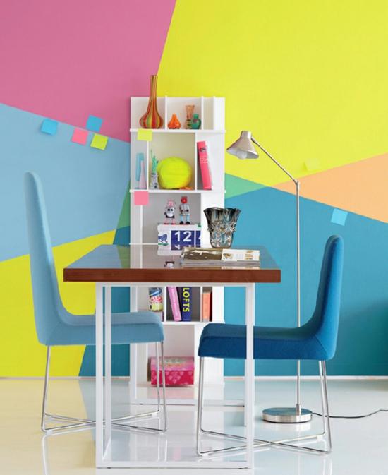 raumgestaltung mit farben lustig farbkombination bunt