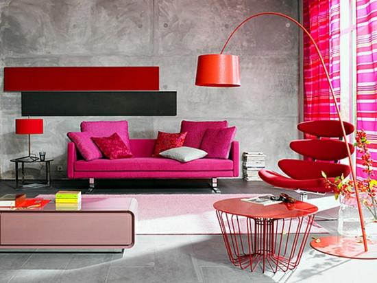 wohnzimmer farben grau rot novericcom for - Wohnzimmer Modern Grau Rot