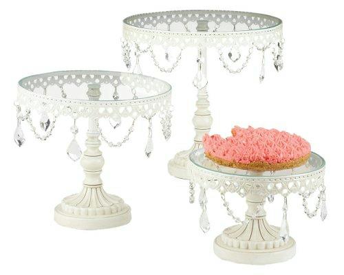 schöne Tortenständer und Kuchenplatten glas stahl designs