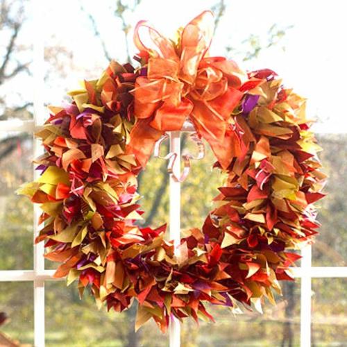 Осенний венок из природного материала своими руками