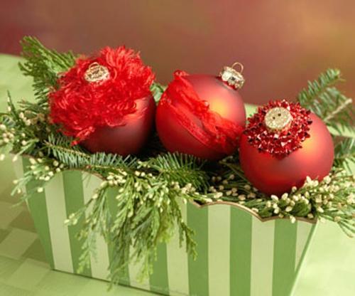schicke weihnachtskugeln dreier deko