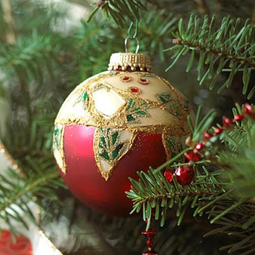 schicke weihnachtskugeln schimmernde mosaik
